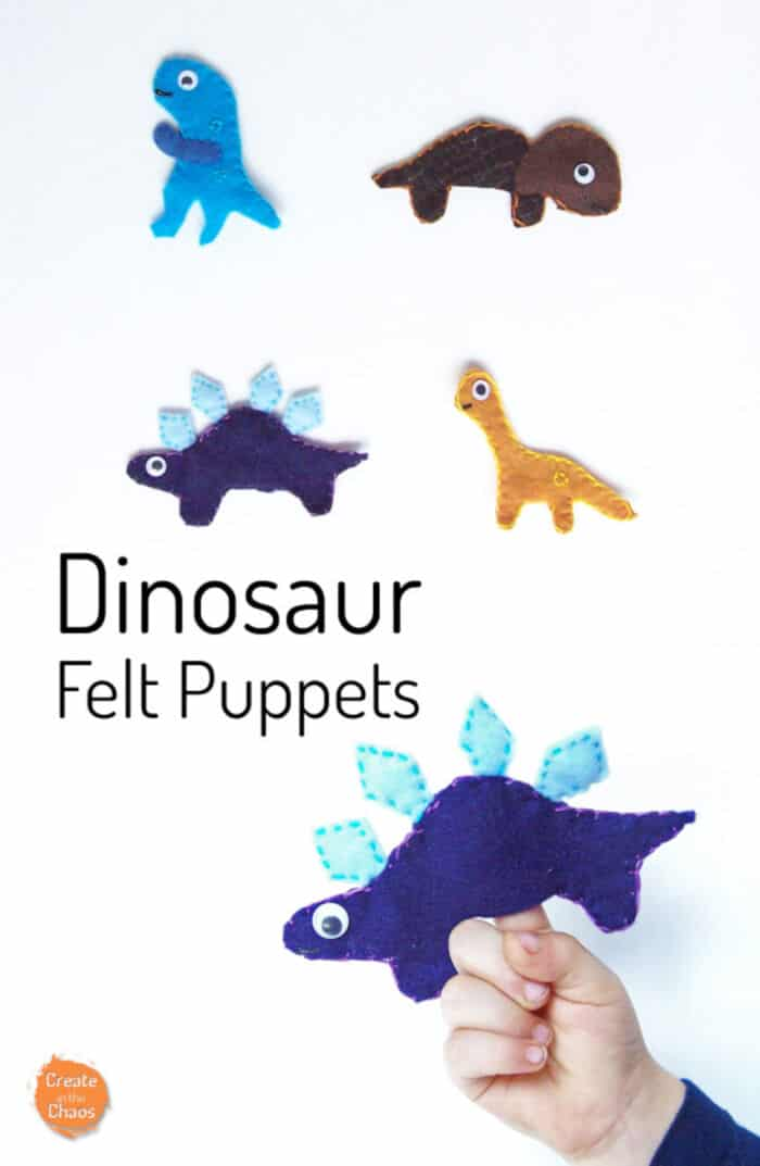 Dinosaur Felt Puppets by Create In The Chaos