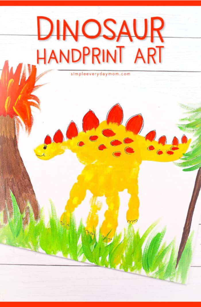 Dinosaur Handprint Art Activity by Simple Everyday Mom
