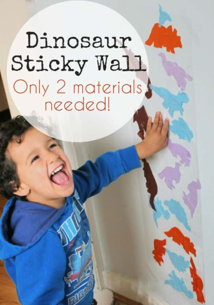 Dinosaur Sticky Wall by In The Playroom