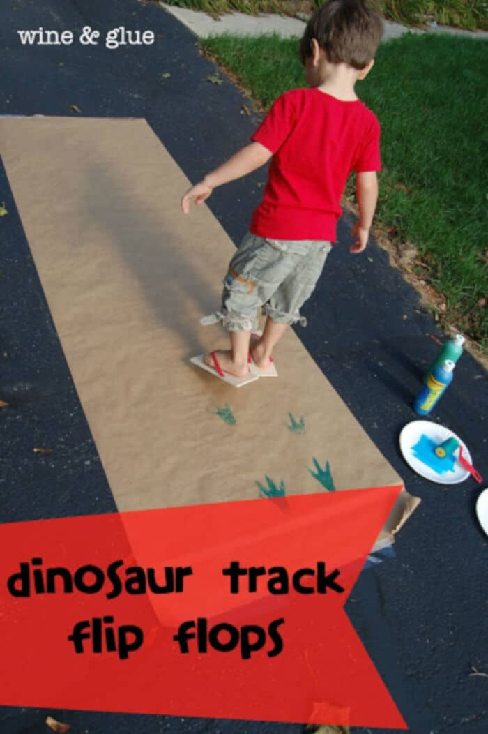 Dinosaur Track Flip Flops by The Melrose Family