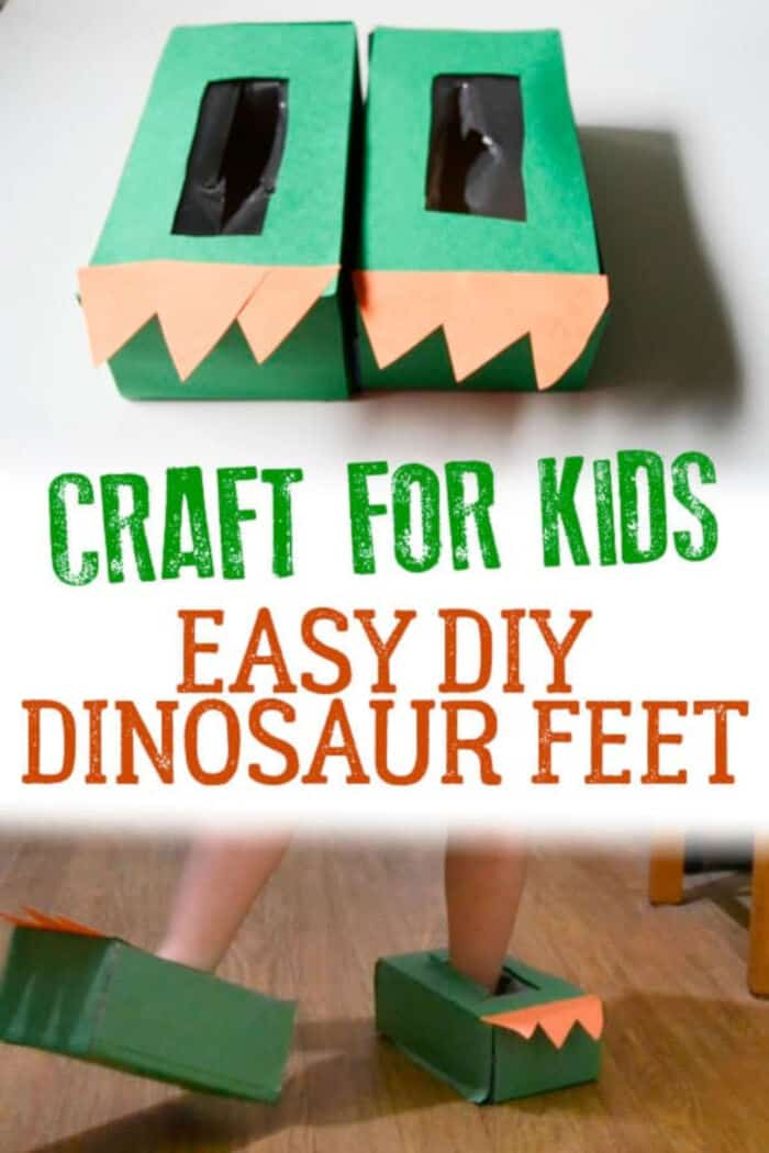 Easy DIY Dinosaur Feet by Rainy Day Mum