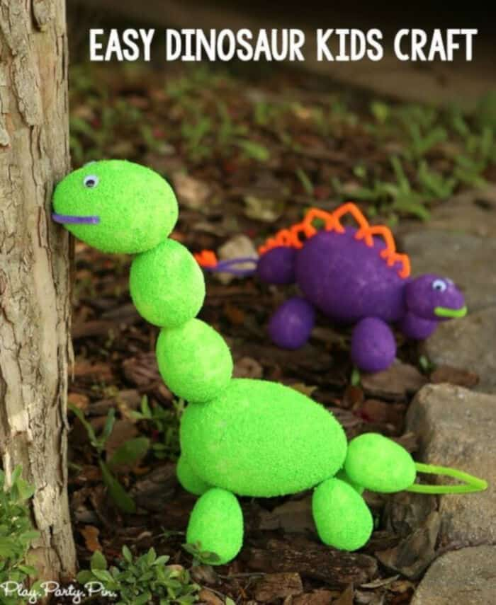 Easy Dinosaur Craft Ideas for Kids by Play Party Plan