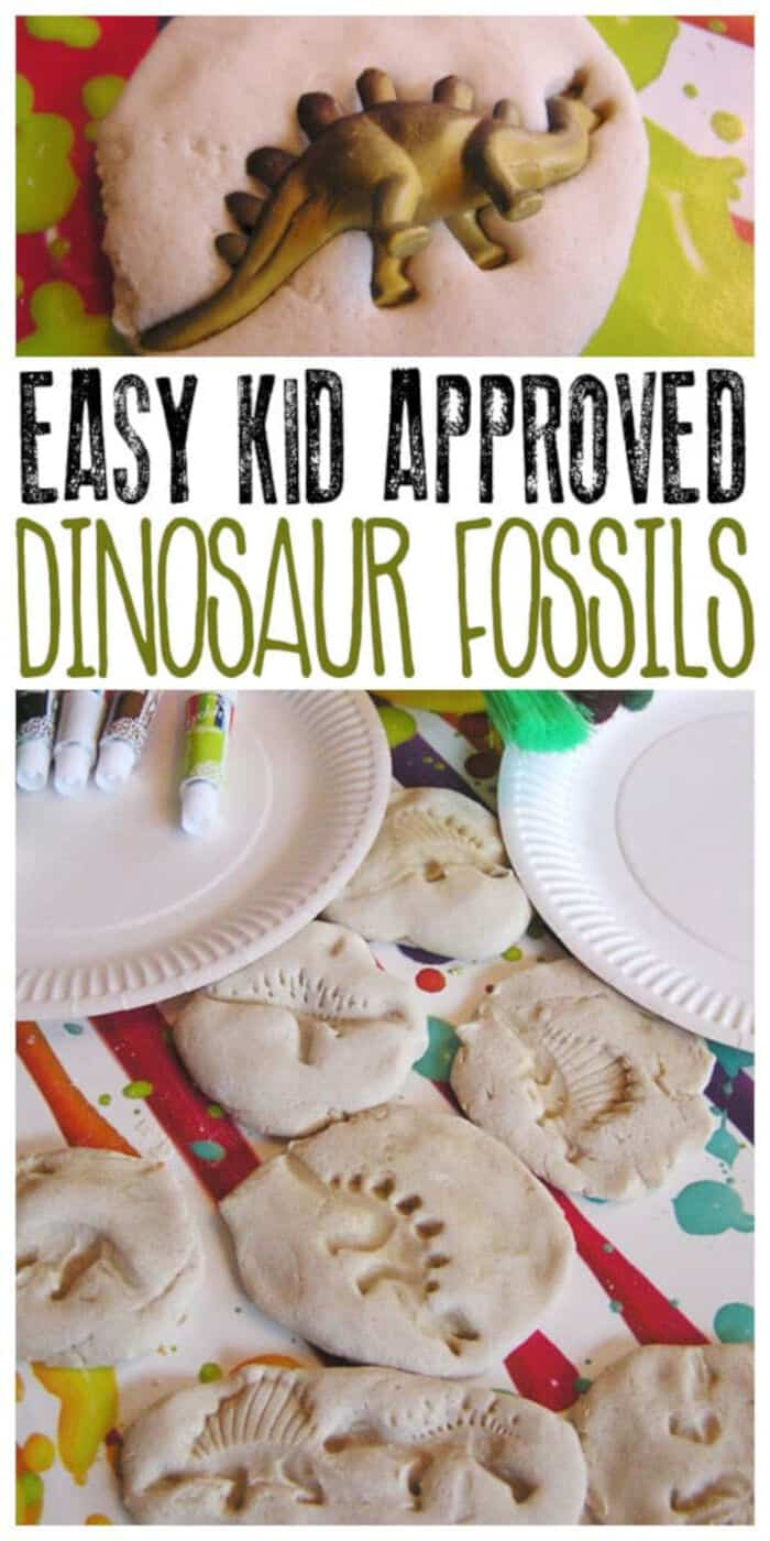 Easy Salt Dough Dinosaur Fossils by Rainy Day Mum
