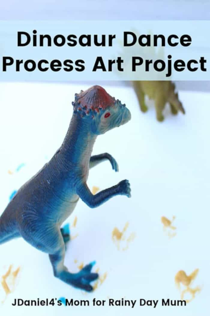 Fun Dinosaur Process Art Project by Rainy Day Mum