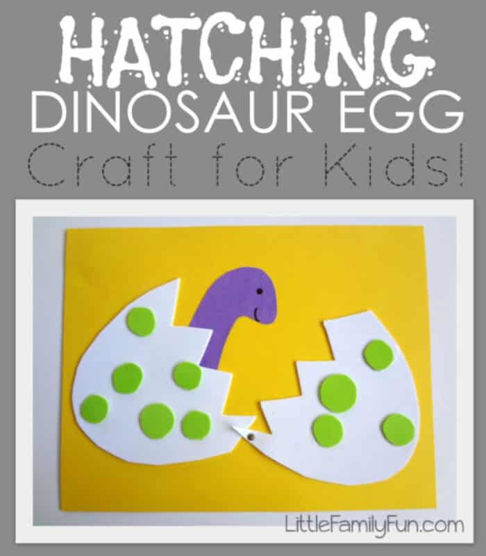Hatching Dinosaur Egg by Little Family Fun