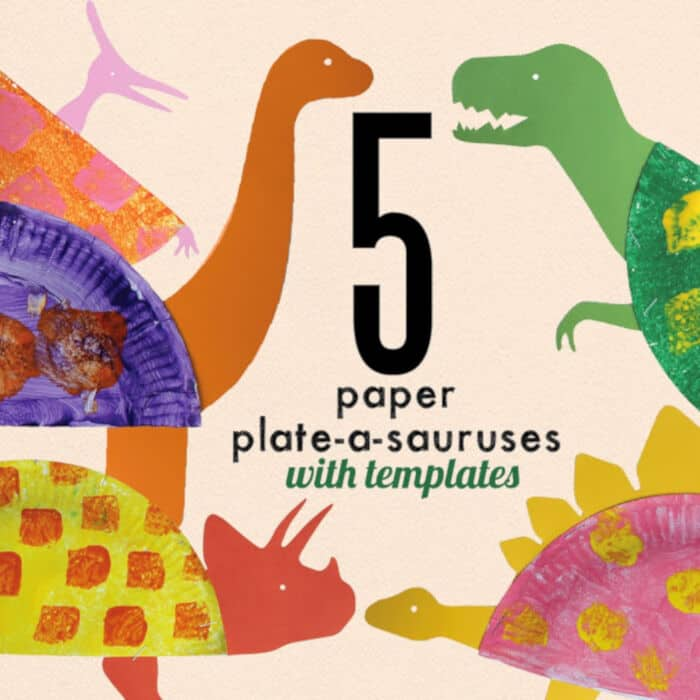 Paper Plate Dinosaur Craft for Kids with Free Templates by Learn With Play At Home