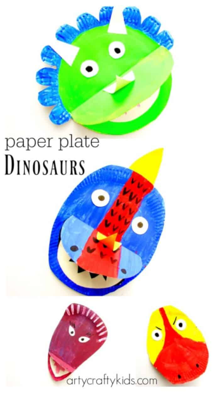 Paper Plate Dinosaur by Arty Crafty Kids