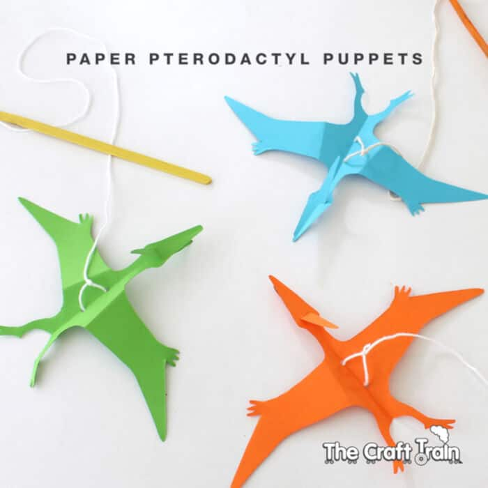 Paper Pterodactyl Puppet by The Craft Train