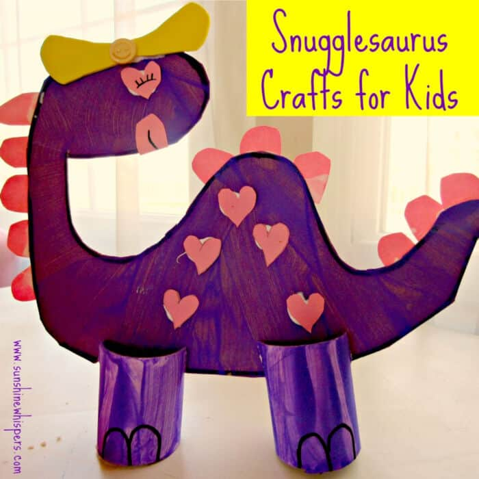 Snugglesaurus Dinosaur Crafts for Kids by Sunshine Whispers