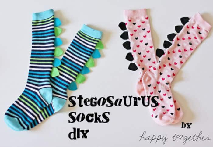 Stegosaurus Socks DIY by Happy Together