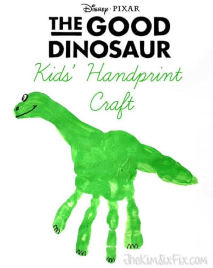 The Good Dinosaur Handprint Craft by The Kim Six Fix