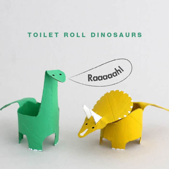 Toilet Roll Dinosaurs by The Craft Train