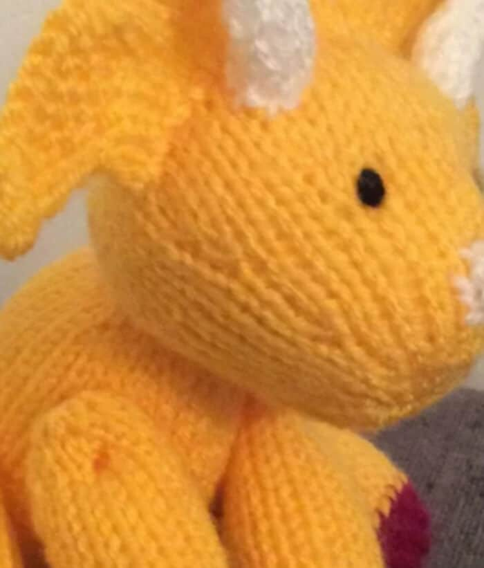 Triceratops Dinosaur Stuffed Toy Amigurumi by Love Knitting