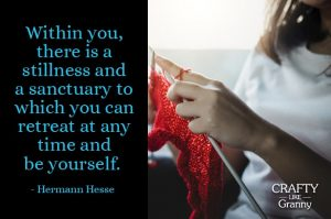 The times I have been knitting lately made me think of this quote. I've shared articles on the health benefits of knitting and how some people find knitting is their meditation. I can get to a place of stillness and sanctuary in my mind when I knit. It's a wonderful space. How about you? Do you find knitting is your quiet time?Here is the crafty goodness for this week… Enjoy! Please share and make Mondays fun, get our craft inspiration delivered to your inbox - CraftyLikeGranny.com #dinosaurcrafts #knitting #crochet #sewing