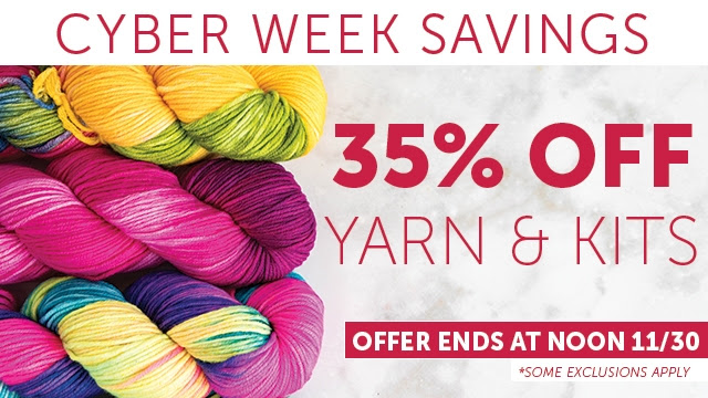 Lion Brand 35% Off Yarn and Kits