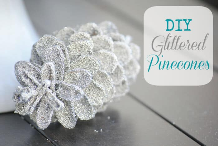 DIY Glittered Pinecones by Making Lemonade