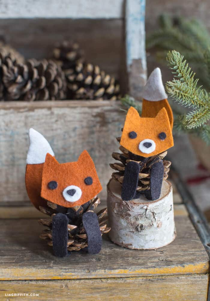 Felt Pinecone Fox by Lia Griffith