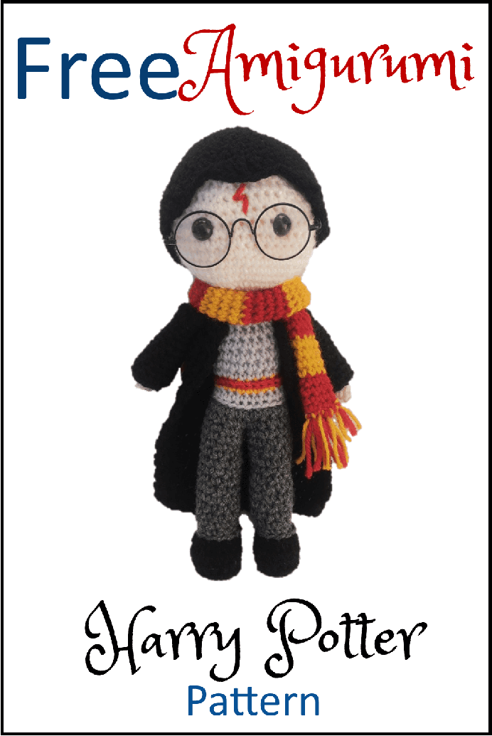 Free Harry Potter Amigurumi Pattern. Crochet this adorable Harry Potter Amigurumi pattern. Daisy and Storm have published the free version of the pattern on their website. Please share. Look forward to Mondays with our craft inspiration newsletter. Crafty goodness delivered to your inbox - CraftyLikeGranny.com #harrypottercrafts #amigurumi #crochet