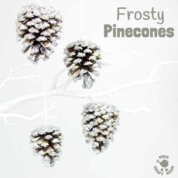 Frosty-Pinecone-Craft-Square by Kids Craft