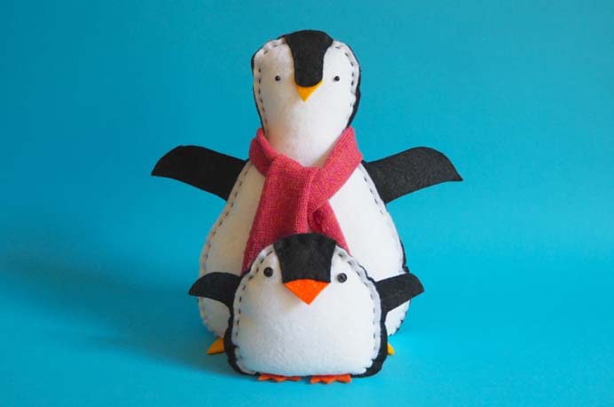 Sew A Softie. The inspiration for this softie were Fairy Penguins from Australia. Trixi from Coloured Buttons has a sewing pattern to follow, that is easy enough for kids to do. I have very fond memories of watching Fairy Penguins in nature when I was a child. Please share. The best in craft delivered to your inbox every Monday - CraftyLikeGranny.com #penguins #sewingpatterns
