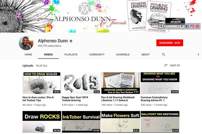 Alphonso-Dunn-Youtube-Drawing-Channel