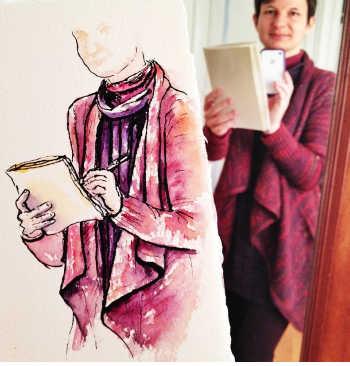 Anne-Laure Watercoloring