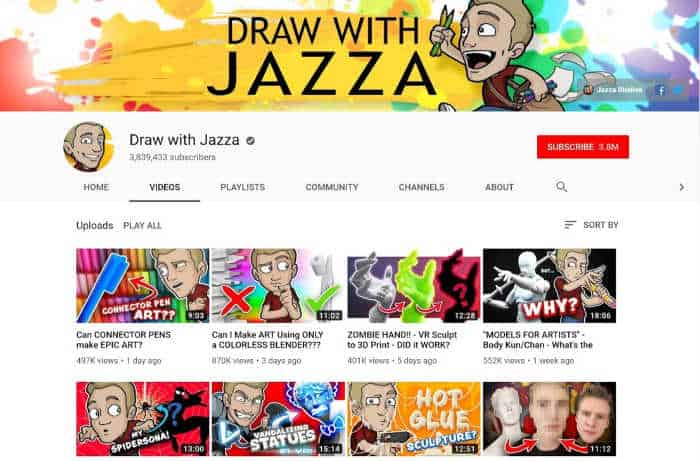 Draw With Jazza Youtube Channel
