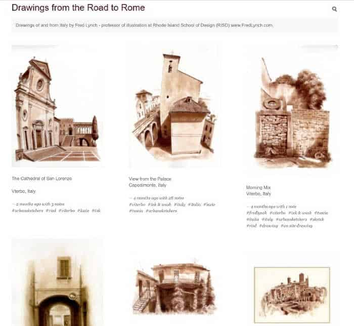 Drawings From The Road To Rome by Fred Lynch