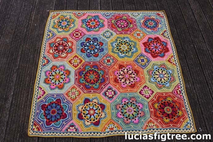 Eastern Jewel Crocheted Blanket by Lucias Fig Tree