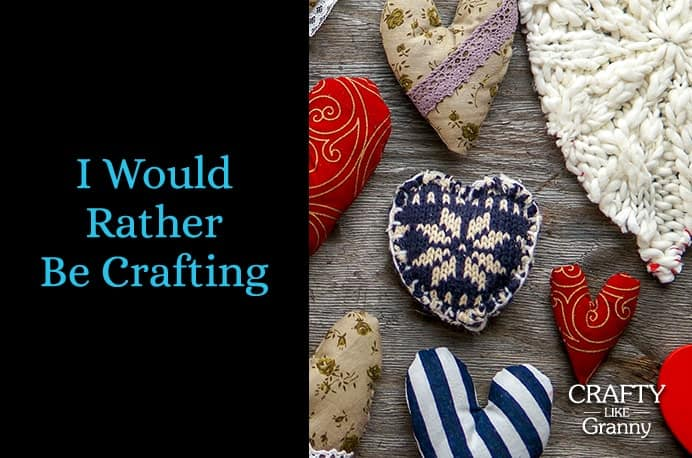 Valentine's Day is next month, so there is plenty of time to create something special. Create a decoration or make a gorgeous gift to celebrate the day of love. Here are some ideas to get you started… Please share and make Mondays fun, get our craft inspiration delivered to your inbox - CraftyLikeGranny.com #valentinesdaycrafts #knitting #crochet #sewing