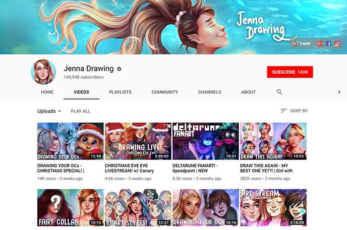 Jenna-Drawing-Youtube-Channel