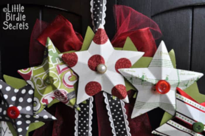 3D Paper Star Wreath by Little Birdie Secrets