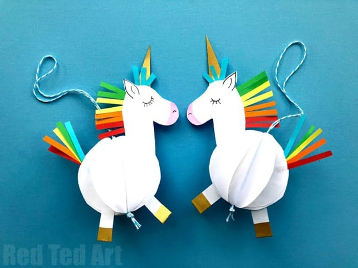 3D-Paper-Unicorn-Decorations-by-Red-Ted-Art