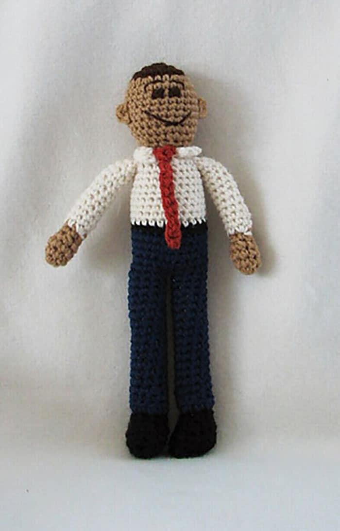 Barack Obama Crocheted Doll