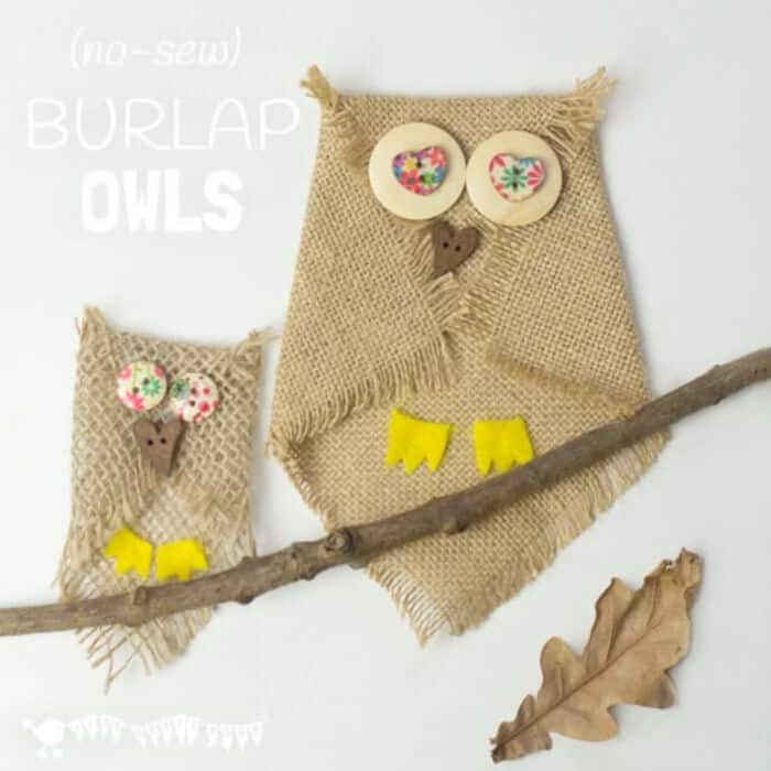 Burlap Owl Craft by Kids Craft Room