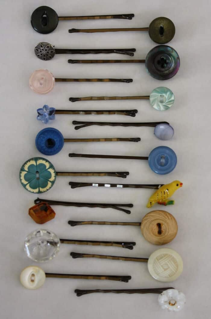 Button Bobby Pins by Homemakers Journal
