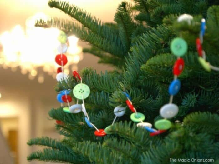 Button Christmas Garland by The Magic Onions