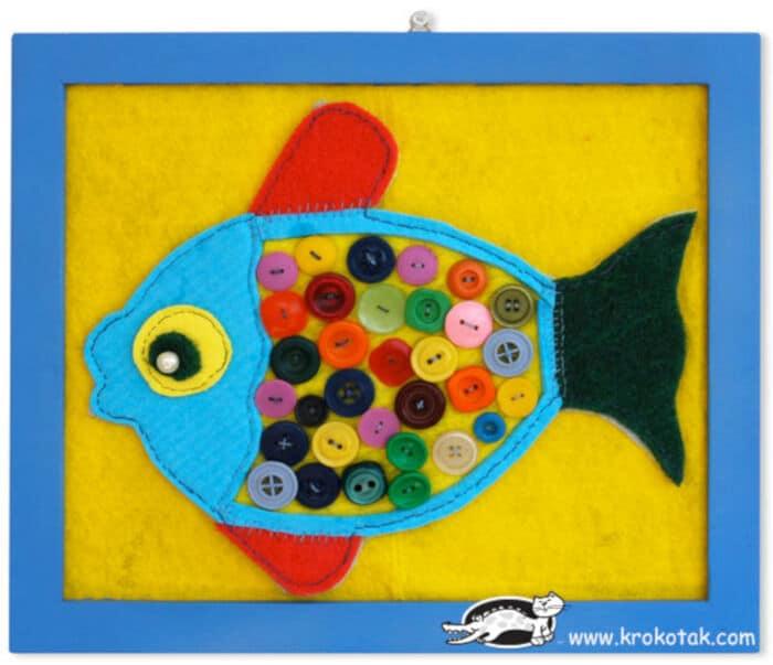 Button Fish by Krokotak