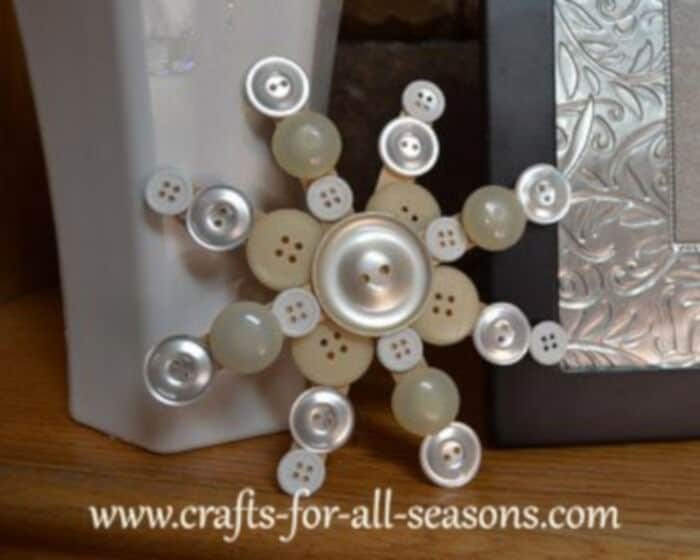 Button Snowflake by Crafts For All Seasons