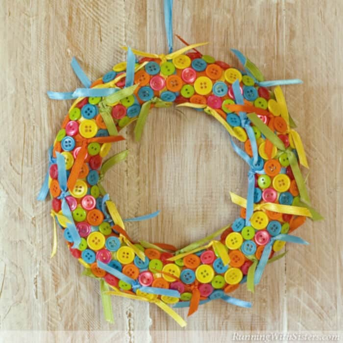 Button Wreath by Running With Sisters