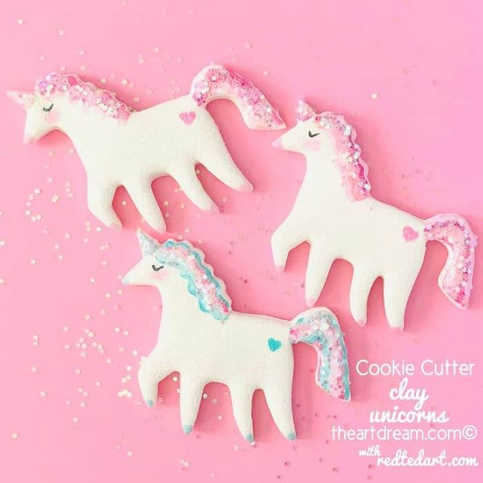 Cookie-Cutter-Clay-Unicorns-by-Red-Ted-Art