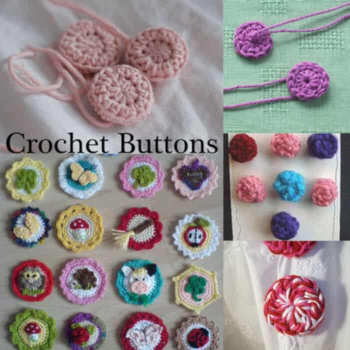 Crochet Buttons by Moogly