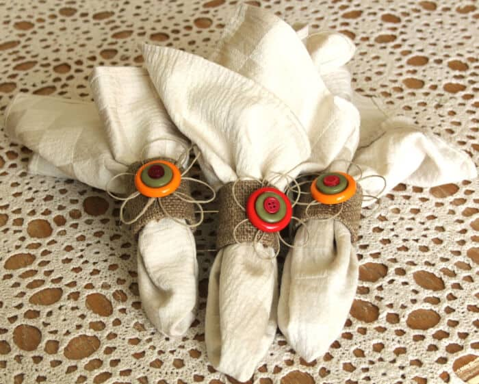 Eco Chic Button Napkin Rings by Think Crafts