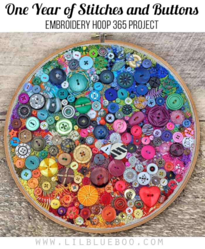 Embroidery Hoop 365 Project by Lil Blue Boo