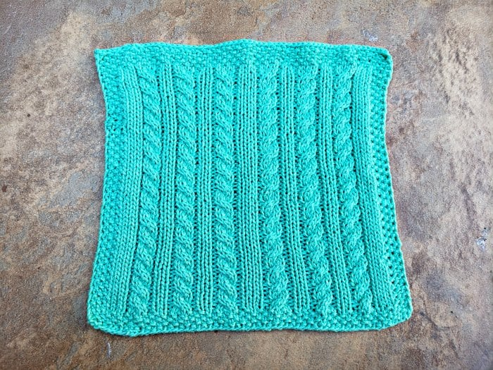 Finished Knitted Dishcloth Final