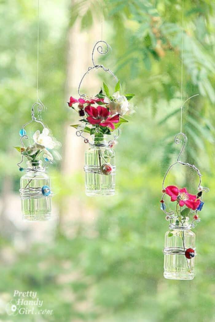 Hanging Beaded Vases by Pretty Handy Girl