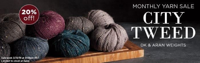 Knit Picks Monthly Yarn Sale City Tweed