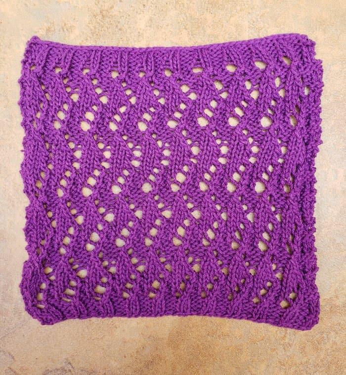 Knitted Dishcloth Branta pattern from Knit Picks
