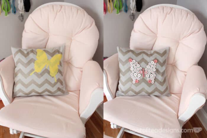 Stenciled Pillow by Spot Of Tea Designs