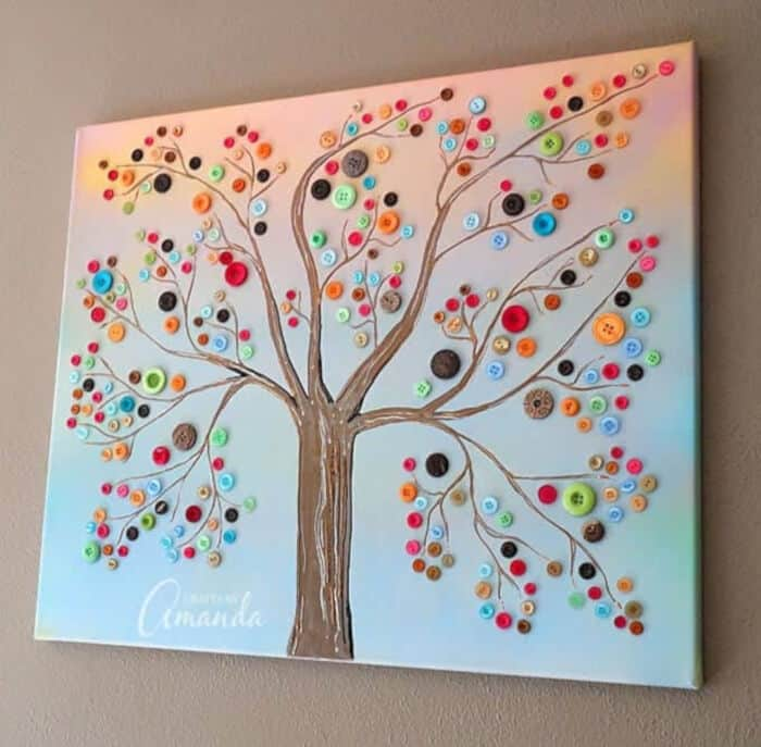 Vibrant Button Tree by Crafts By Amanda